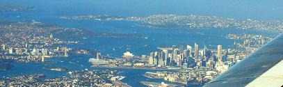 Flying into Sydney, Australia