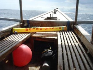 Dive Boat off Trawangan, Gili Islands, Lombok, Indonesia
