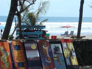 Art along Kuta Beach